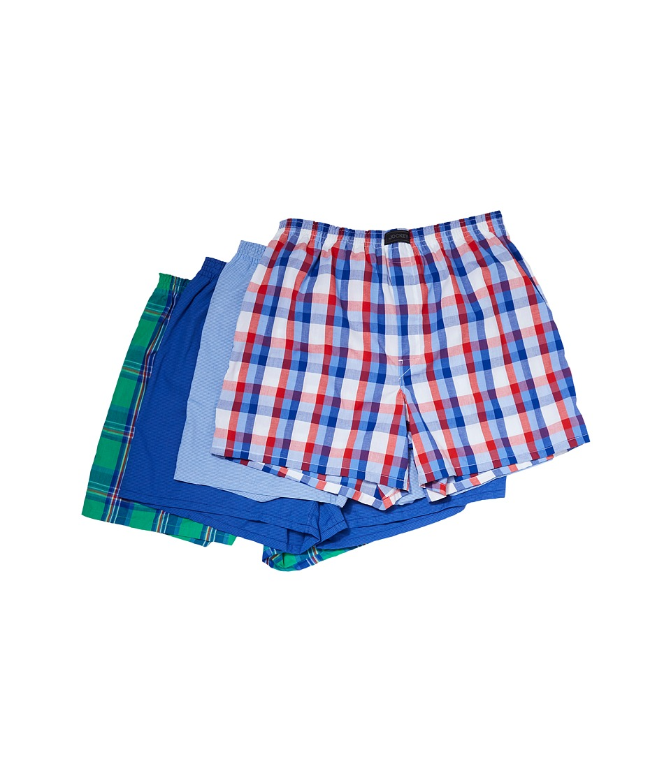 Jockey - Active Blend Woven Boxer 4-Pack