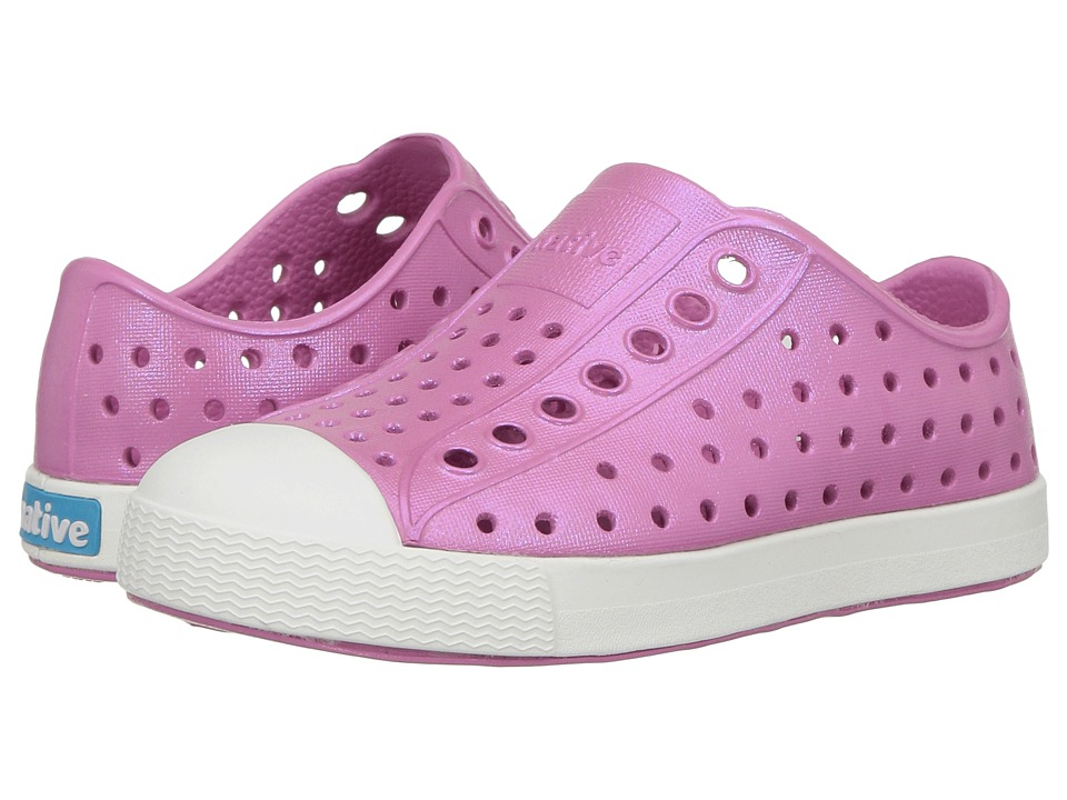 Native Kids Shoes Jefferson Iridescent (Toddler/Little Kid) (Malibu Pink/Shell White/Galaxy) Girls Shoes