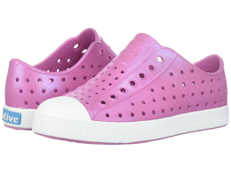 Native Kids Shoes Jefferson Iridescent (Little Kid) (Malibu Pink/Shell White/Galaxy) Girls Shoes