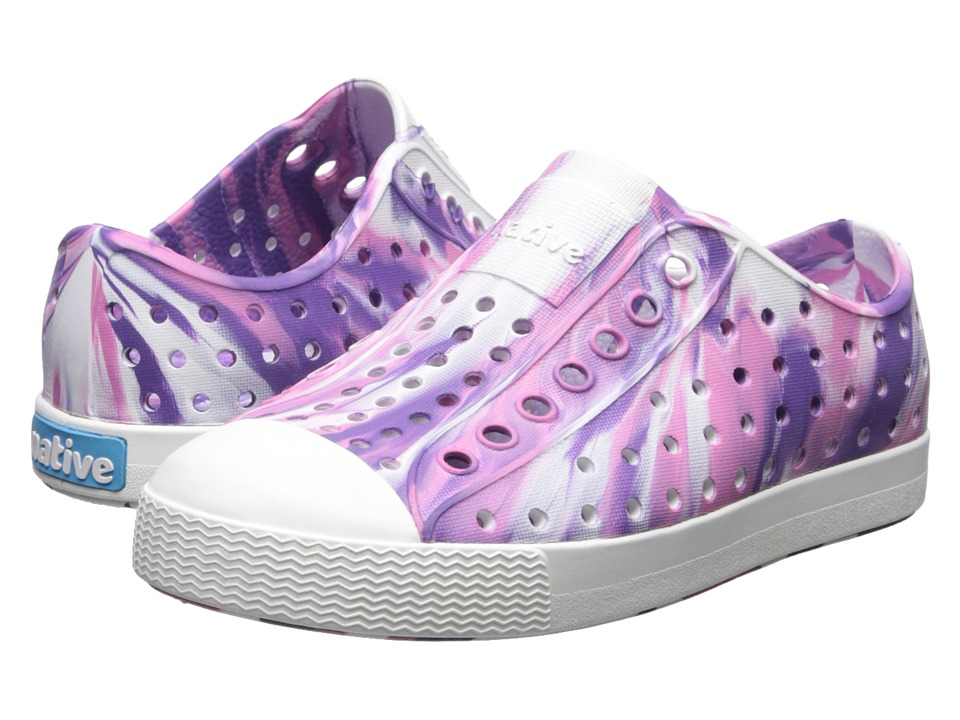 Native Kids Shoes - Jefferson Marbled (Toddler/Little Kid) (Starfish Purple/Shell White/Marble) Girls Shoes