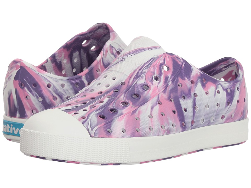 Native Kids Shoes - Jefferson Marbled (Little Kid) (Starfish Purple/Shell White/Marble) Girls Shoes