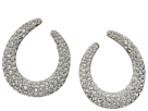 Nina Front To Back Pave Hoop Swarovski Stones Earrings