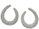 Nina Nina Front To Back Pave Hoop Swarovski Stones Earrings