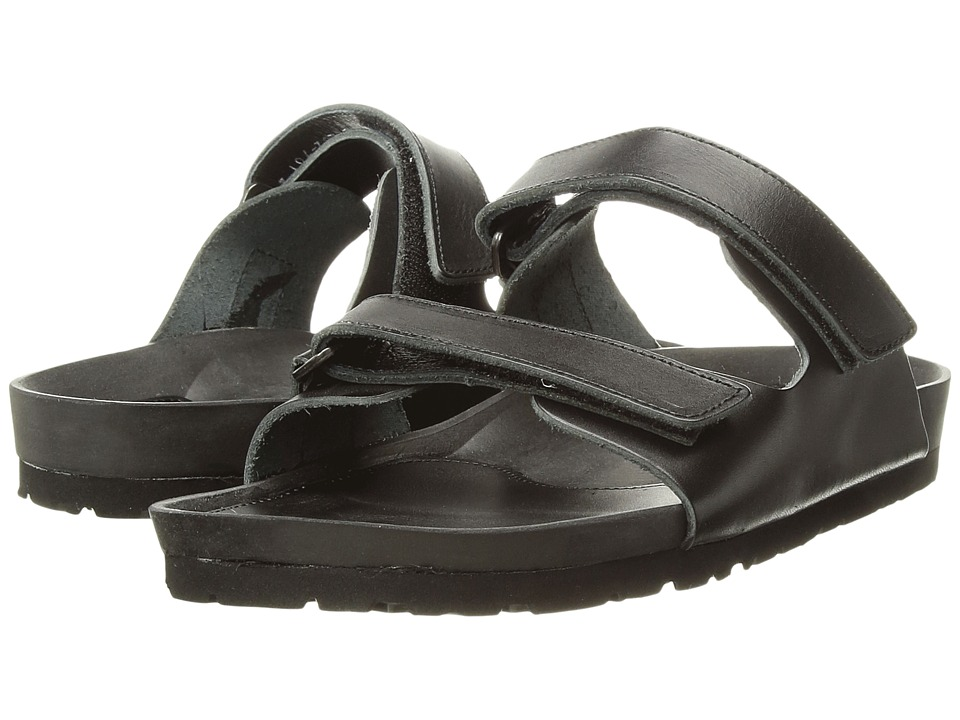 Y's by Yohji Yamamoto - Hook-and-Loop Sandals (Black) Women's Sandals