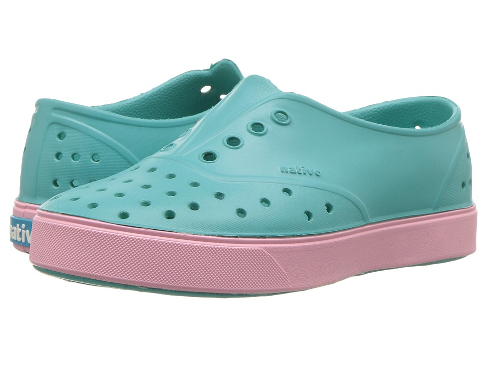 Native Kids Shoes - Miller (Little Kid) (Pool Blue/Princess Pink) Girls Shoes