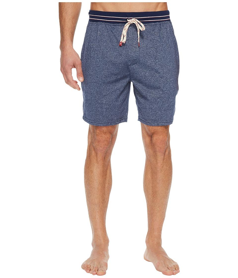 Original Penguin Marled Single Knit Sleep Shorts (Vintage Indigo) Men