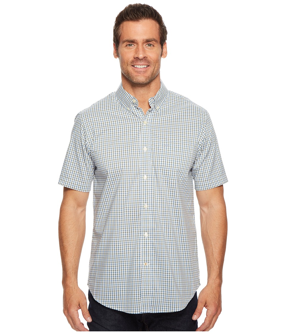 Dockers - Short Sleeve Comfort Stretch Woven Shirt (Agave Green) Mens Clothing