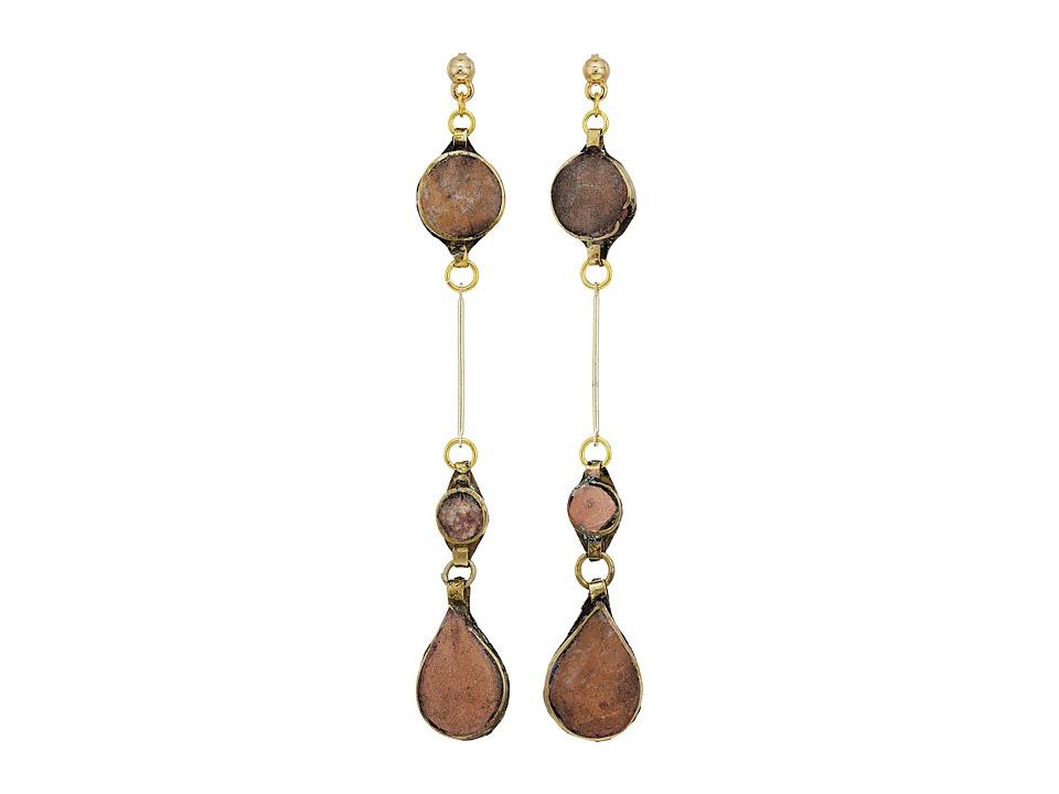 Vanessa Mooney - The Aaliyah Drop Earrings (Gold) Earring