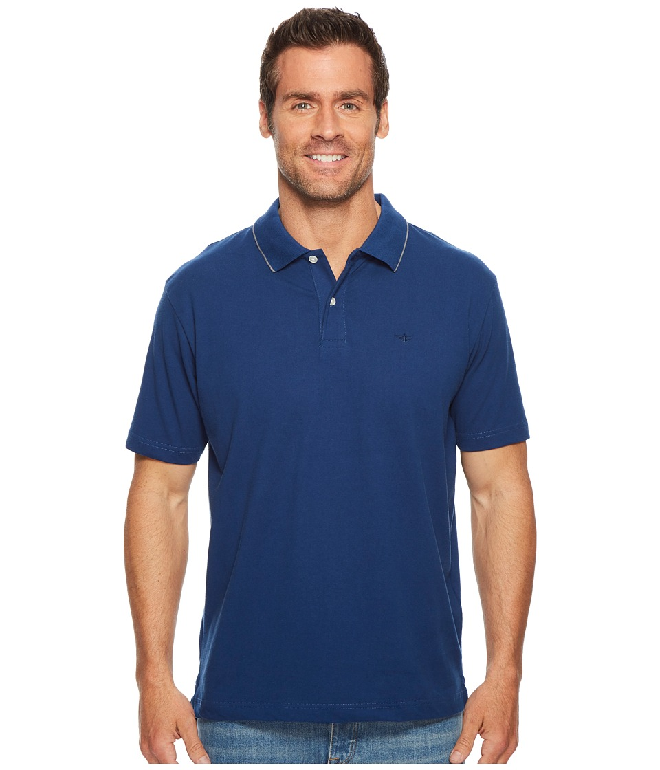 Dockers - Solid Signature Polo (Estate Blue) Mens Clothing