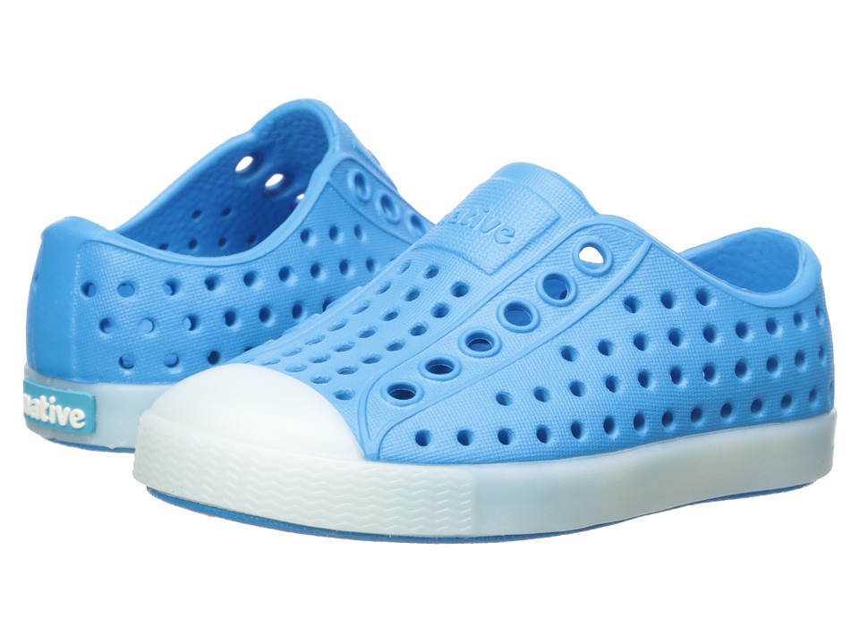 Native Kids Shoes - Jefferson Glow (Toddler/Little Kid) (Wave Blue/Glow in the Dark) Kids Shoes