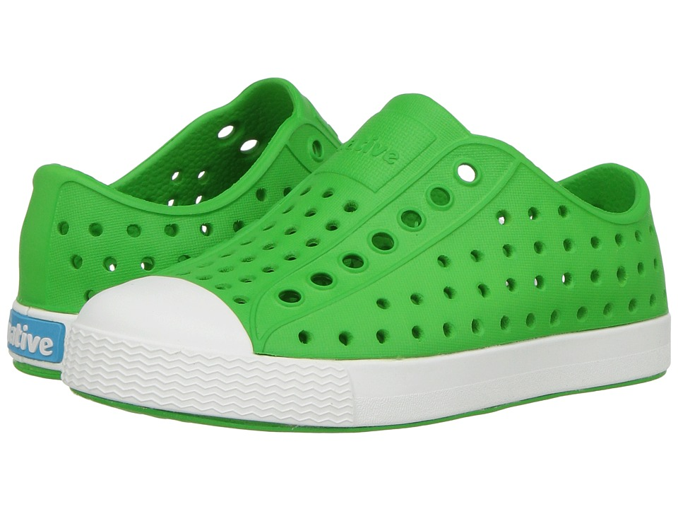 Native Kids Shoes - Jefferson (Toddler/Little Kid) (Grasshopper Green/Shell White) Kids Shoes
