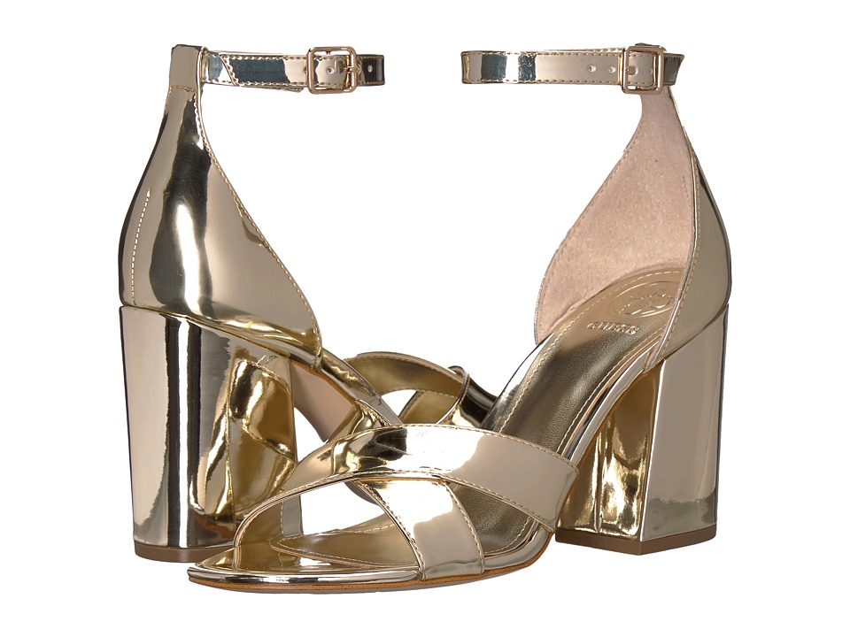 GUESS Dalla (Gold Synthetic) High Heels