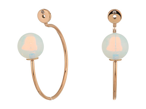 Fossil Glass Hoop Earrings - Rose Gold