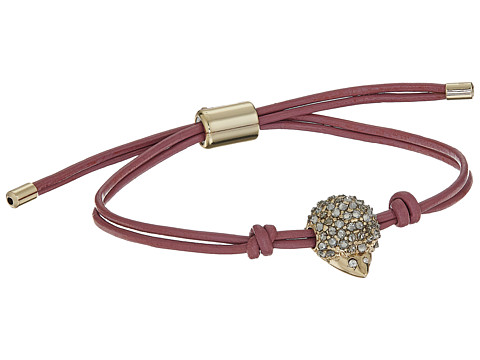 Fossil Spirit Animal Slider Bracelet - Pave Hedgehog/Gold