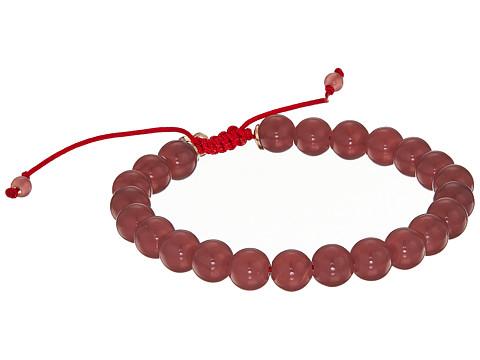 Fossil Boho Bead Bracelet - Rose Gold/Purple