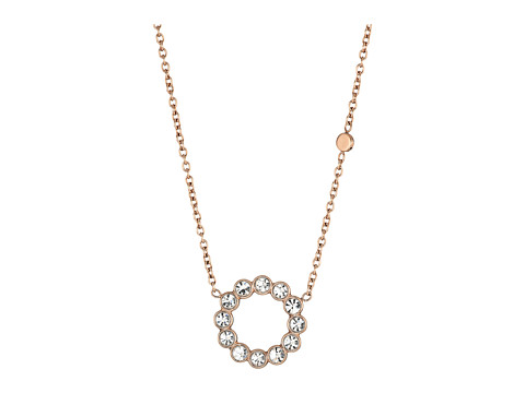 Fossil Glitz Ring Pendant Necklace - Rose Gold
