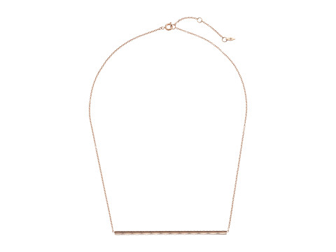 Fossil Etched Signature Necklace - Rose Gold