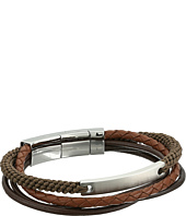 Fossil - Defender Wide Leather Bracelet