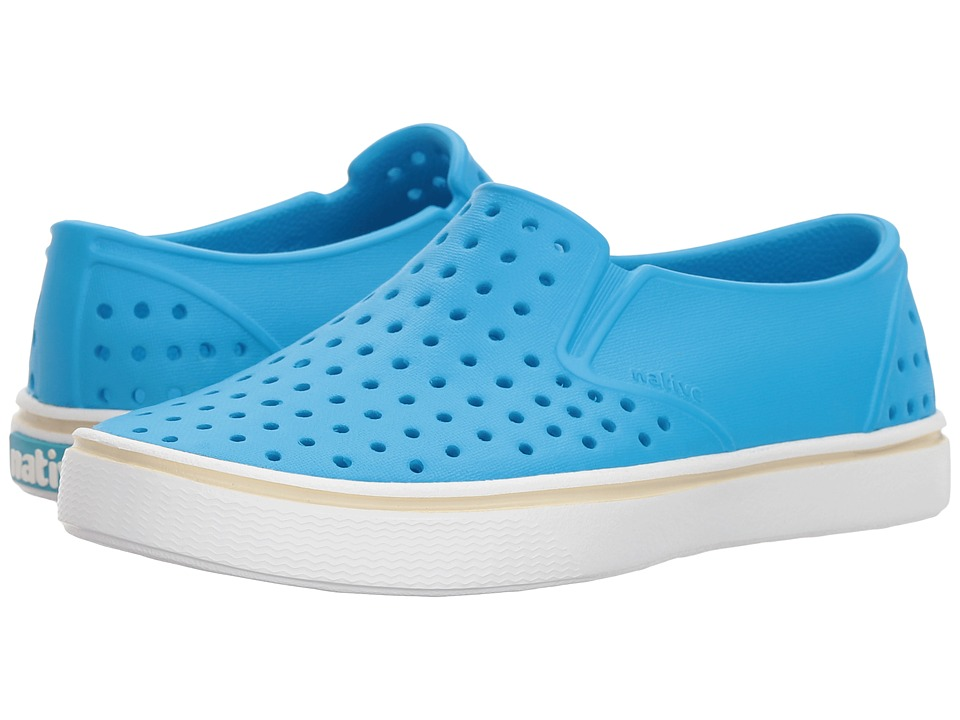 Native Kids Shoes Miles Slip-On (Little Kid/Big Kid) (Wave Blue/Shell White) Kids Shoes