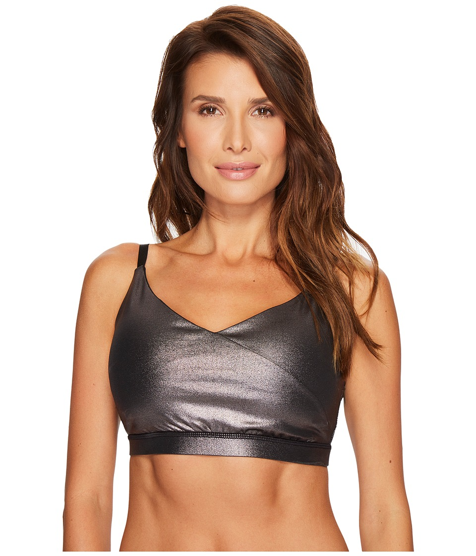 Ivanka Trump Cross Front Skinny Strap Sports Bra (Bronze) Women
