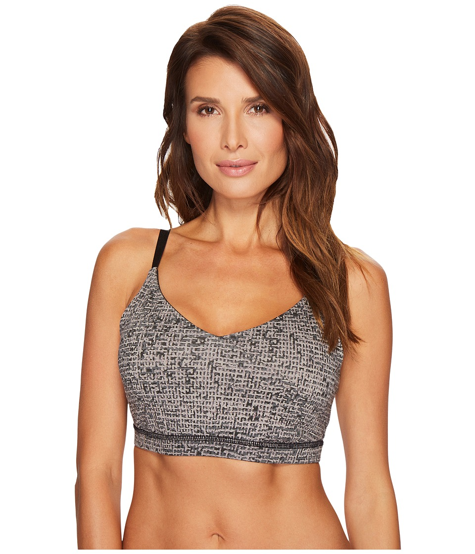 Ivanka Trump Cross Front Skinny Strap Sports Bra (Black/Multi) Women