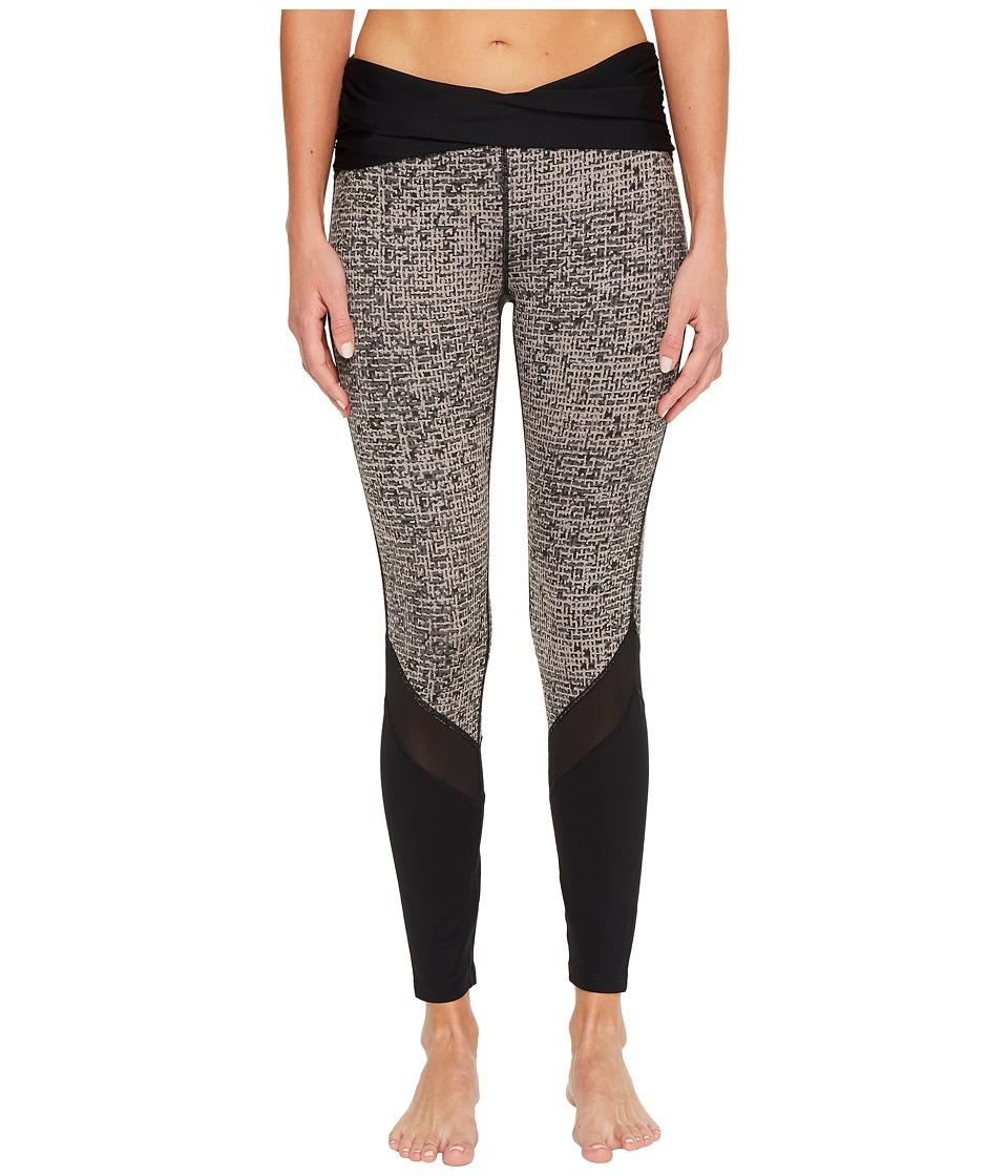 Ivanka Trump Texture Print Rouching Active Leggings (Black/Multi) Women