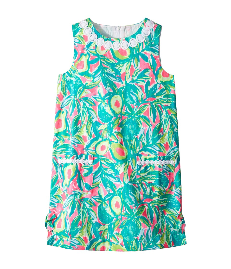 Lilly Pulitzer Kids Lilly Classic Shift Dress (Toddler/Little Kids/Big Kids) (Pink Sunset/Guac and Roll) Girl
