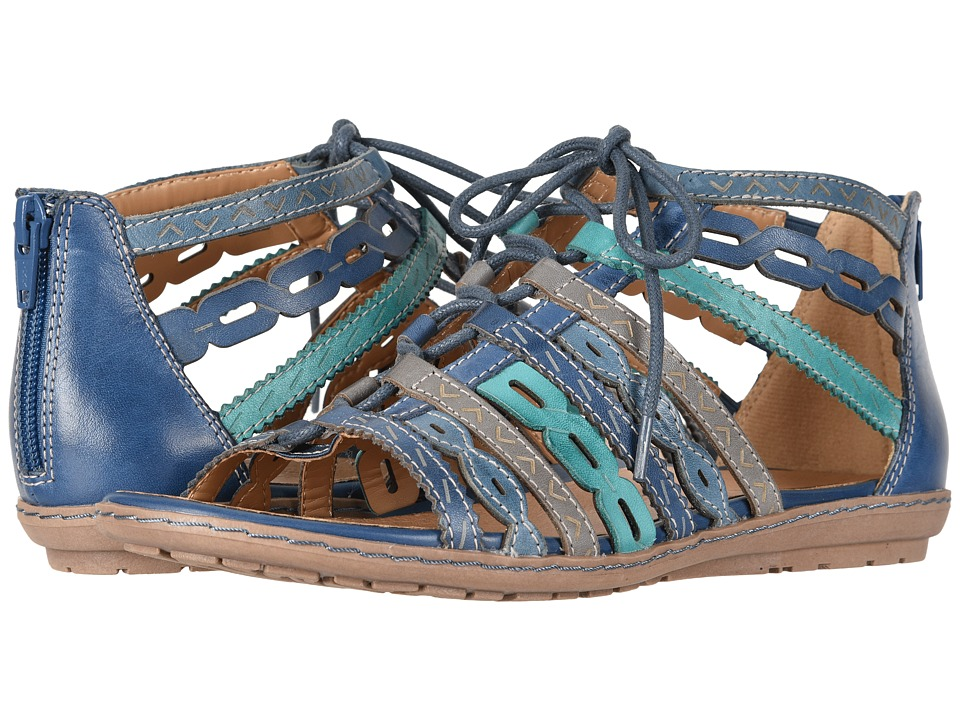 Earth Tidal (Sapphire Blue Multi Soft Leather) Women's Shoes