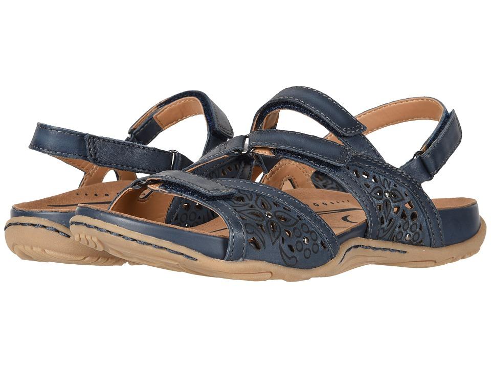Earth Maui (Indigo Blue Soft Burnished Leather) Women's Shoes