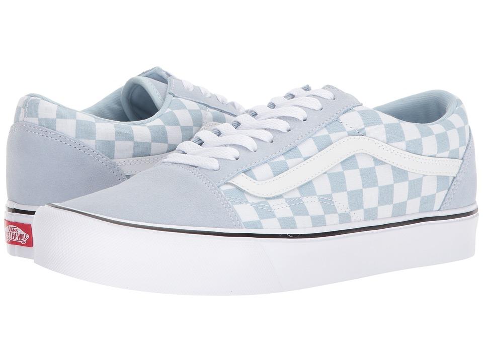 Vans - Old Skool Lite ((Suede/Canvas) Baby Blue/True White) Skate Shoes