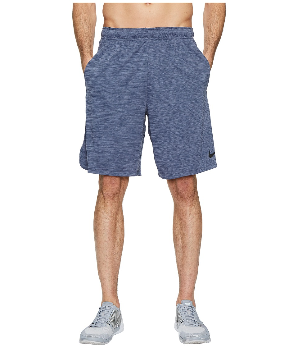 Nike Dri-FIT Heathered 9 Training Short (Light Carbon/Black) Men