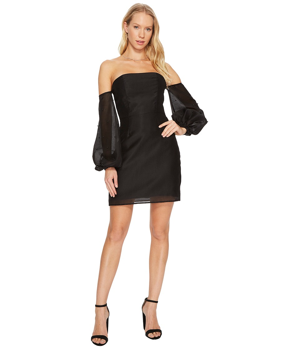 KEEPSAKE THE LABEL Call Me Long Sleeve Mini Dress (Black) Women