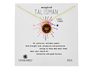 Dogeared Magical Talisman Lucky Charm, Small Elephant Maroon Enamel Talisman Necklace
