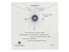 Dogeared Magical Talisman New Beginnings, Small Lotus Navy Enamel Talisman Necklace