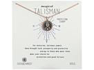 Dogeared Magical Talisman Protection Charm, Small Hamsa Black Enamel Talisman Necklace