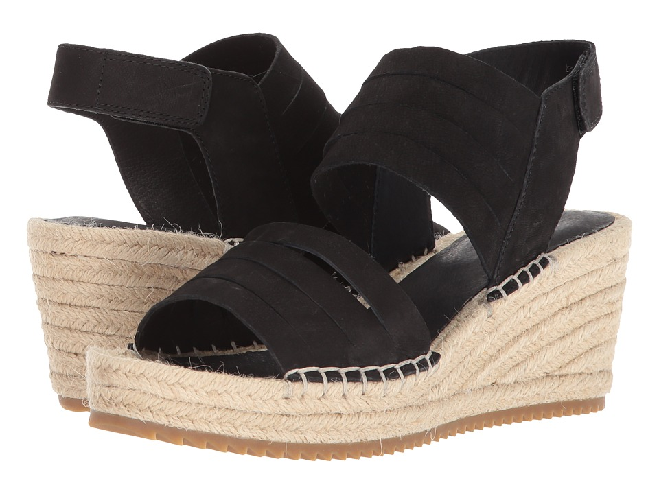 Eileen Fisher - Largo (Black Tumbled Nubuck) Womens Wedge Shoes