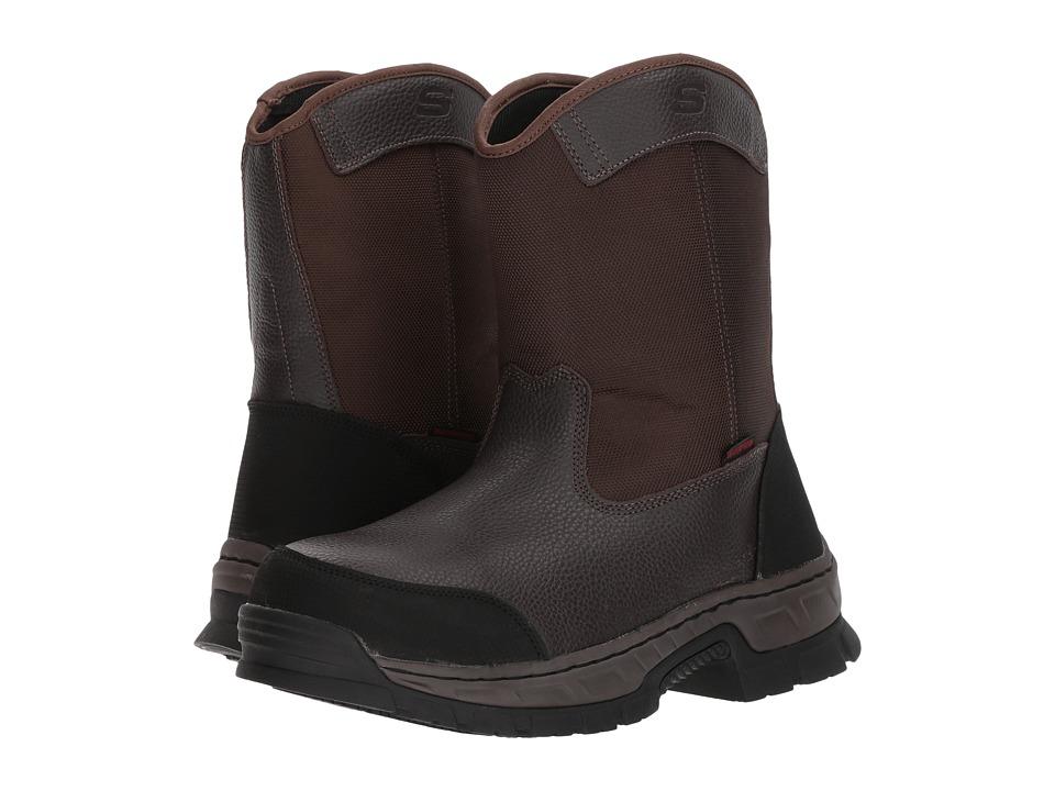 Skechers Work - Vinten - Wibaux (Brown) Men's Pull-on Boots