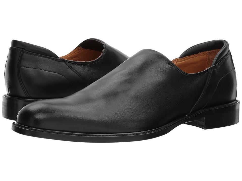 Right Bank Shoe Cotm - Iggy Stretch Calf Loafer (Black) Mens Slip on  Shoes