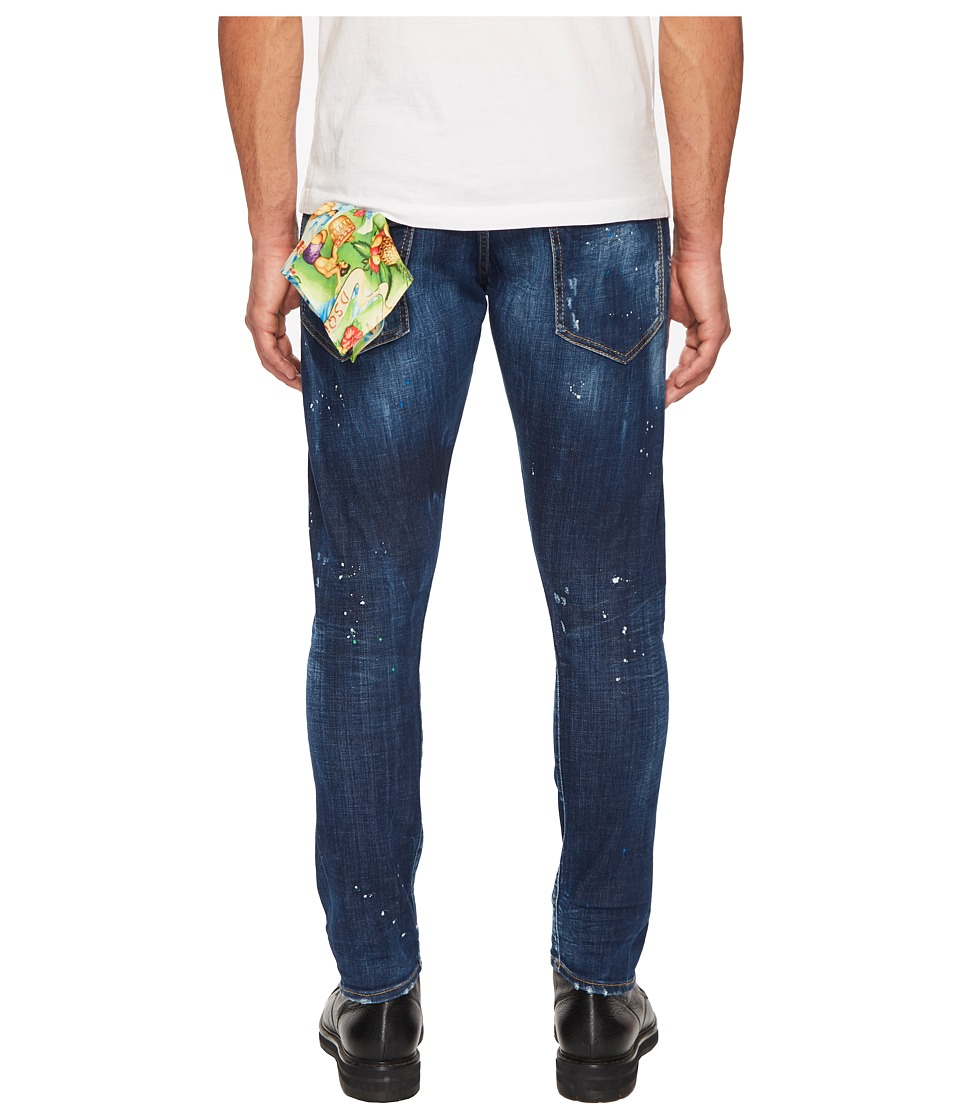 DSQUARED2 Hawaiian Wash Sexy Twist Jeans (Blue) Men's Jeans
