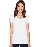 Ivanka Trump - Knit V-Neck Tee with Grommets
