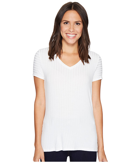 Ivanka Trump Knit V-Neck Tee with Grommets