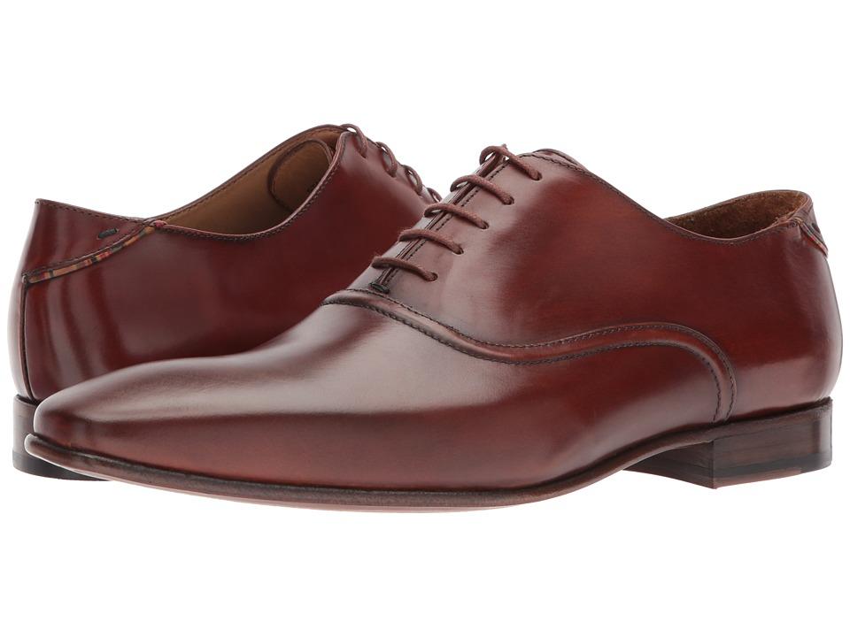 Paul Smith - PS Starling Plain Toe Oxford (Tan) Mens Plain Toe Shoes