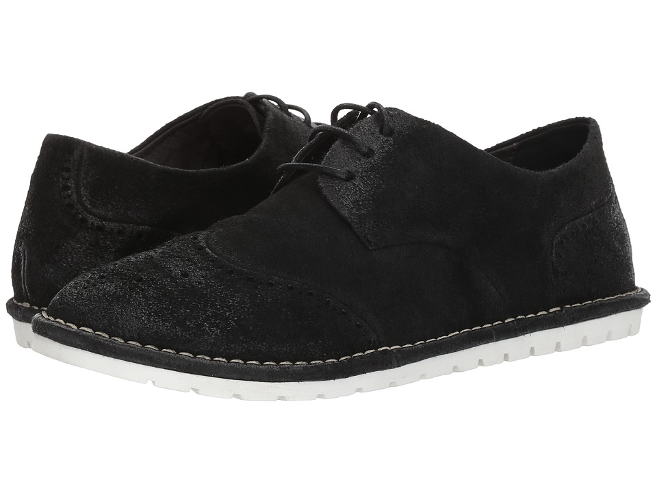 Marsell - Gomme Suede Wingtip Oxford (Black) Mens Shoes
