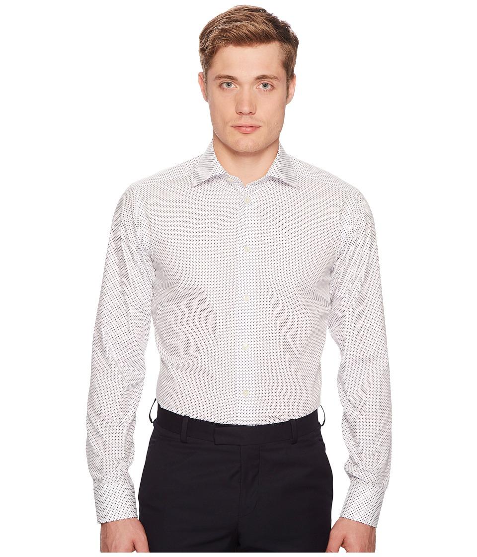 Eton - Slim Fit Polka Dot Shirt (White/Blue) Mens Long Sleeve Button Up