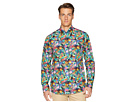 Eton Slim Fit Tropical Print Shirt