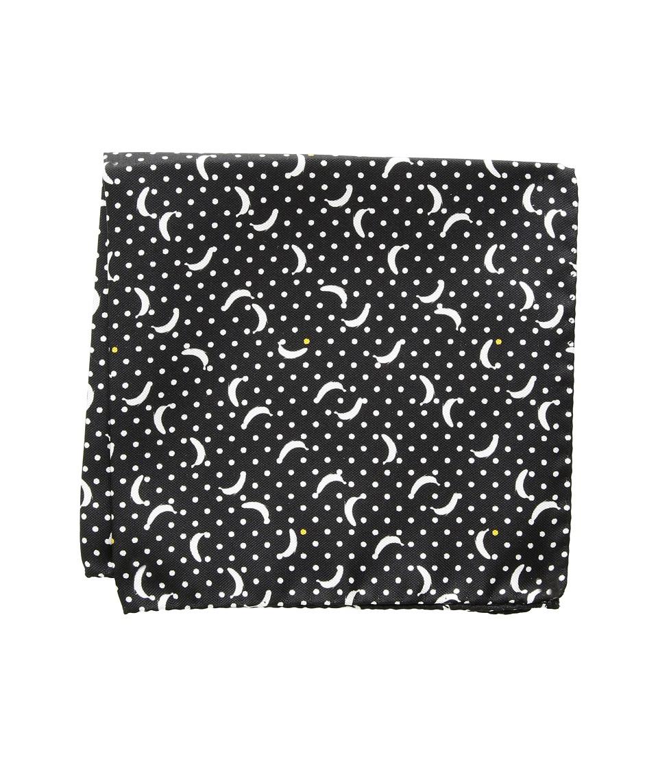 Eton - Banana Pocket Square (Black/White) Ties