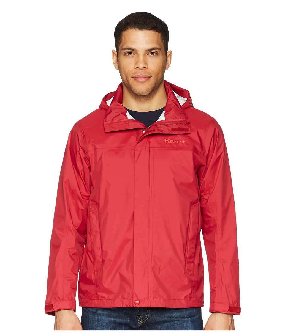 Marmot - PreCip Jacket (Sienna Red) Mens Coat
