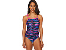 Speedo Print Cross Power Swimsuit