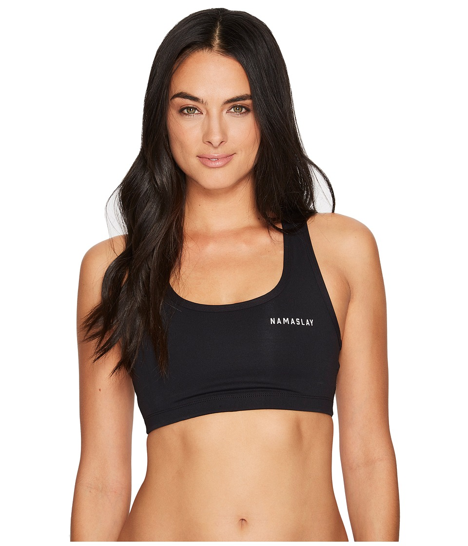 Spiritual Gangster Namaslay Sports Bra (Black) Women