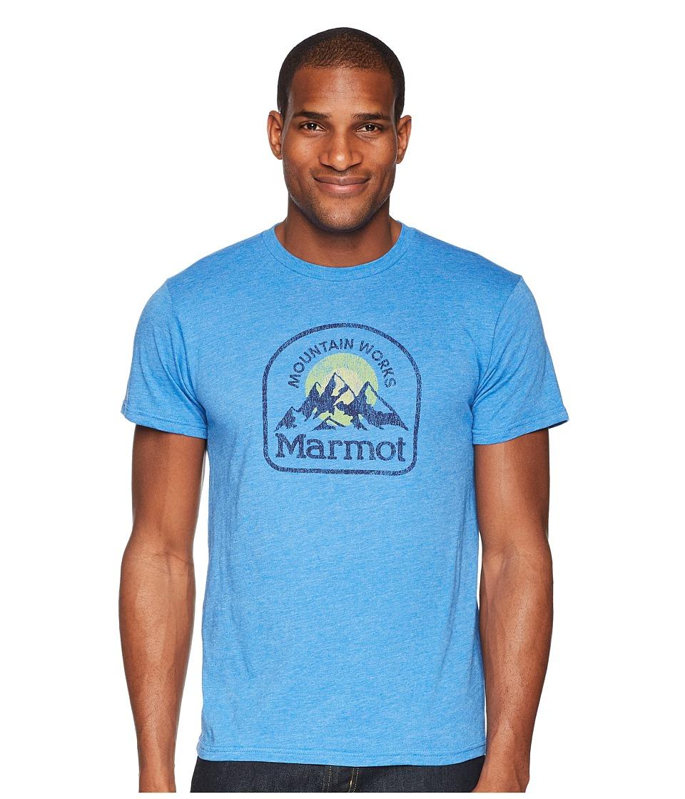Marmot - Short Sleeve Altitude Tee (Royal Heather) Mens T Shirt